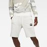G-Star RAW® Core Stripe Loose Sweatshorts White model front
