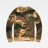 G-Star RAW® Oversized  Dutch Camo Stalt Deconstructed Sweater Green flat front