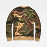 G-Star RAW® Oversized  Dutch Camo Stalt Deconstructed Sweater Green flat back