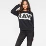 G-Star RAW® Carinsio Cropped Sweater Black model front