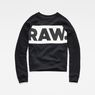 G-Star RAW® Carinsio Cropped Sweater Black flat front