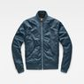 G-Star RAW® Rackam Deconstructed Padded Bomber Medium blue flat front
