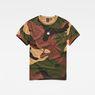 G-Star RAW® Kurser Loose T-Shirt Grün flat front