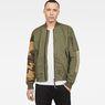 G-Star RAW® Rackam Tone-Mix Bomber Green model front