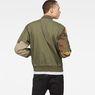 G-Star RAW® Rackam Tone-Mix Bomber Green model back