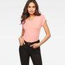 G-Star RAW® Liixa Slim T-shirt Pink model front