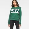 G-Star RAW® Carinsio Cropped Sweater Green model front