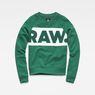 G-Star RAW® Carinsio Cropped Sweater Green flat front