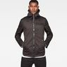 G-Star RAW® Batt Hooded Overshirt Black model front