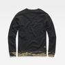G-Star RAW® Tahire Stalt Deconstructed Sweater Schwarz flat back