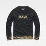 G-Star RAW® Tahire Stalt Deconstructed Sweater Schwarz flat front