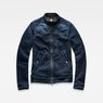 G-Star RAW® Deline Slim Jacket Dunkelblau model front