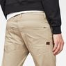 G-Star RAW® Motac Deconstructed 3D Slim Pants Beige model back zoom