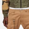 G-Star RAW® Powel 3D Tapered Cuffed Pants Brown model back zoom