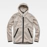 G-Star RAW® Strett Hooded Jacket + Gymbag Beige flat front