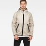 G-Star RAW® Strett Hooded Jacket + Gymbag Beige model front