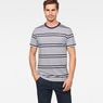 G-Star RAW® Makauri Stripe-5 T-Shirt Weiß model front