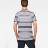 G-Star RAW® Makauri Stripe-5 T-Shirt Weiß model back