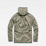 G-Star RAW® Strett Hooded Overshirt + Gymbag Grey flat back