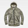 G-Star RAW® Strett Hooded Overshirt + Gymbag Grey flat front