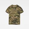 G-Star RAW® Graphic Hawaii Camo Relaxed T-Shirt Green flat front