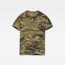 G-Star RAW® Graphic Hawaii Camo Relaxed T-Shirt Grün flat front