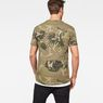 G-Star RAW® Graphic Hawaii Camo Relaxed T-Shirt Green model back