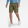 G-Star RAW® Rovic Zip Loose 1/2-Length Shorts Green model front