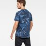 G-Star RAW® Graphic Hawaii Camo Relaxed T-Shirt Dark blue model back