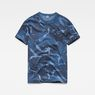 G-Star RAW® Graphic Hawaii Camo Relaxed T-Shirt Dark blue flat front