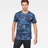G-Star RAW® Graphic Hawaii Camo Relaxed T-Shirt Dark blue model front