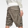 G-Star RAW® Rovic Zip Loose 1/2-Length Shorts Grey model back zoom