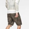 G-Star RAW® Rovic Zip Loose 1/2-Length Shorts Grey model back