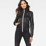 G-Star RAW® Lanc Slim Tracktop Sweater Black model front