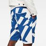 G-Star RAW® Hyce Relaxed Sweater Shorts Medium blue model back zoom