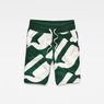 G-Star RAW® Hyce Relaxed Sweater Shorts Green flat front