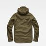 G-Star RAW® Batt Hooded Overshirt Green flat back