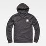 G-Star RAW® Doax Hooded Sweater Grau flat front