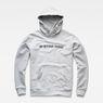G-Star RAW® Loaq Hooded Sweater Grey flat front
