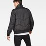 G-Star RAW® Whistler Meefic Quilted Bomber Black model back
