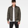 G-Star RAW® Whistler Meefic Quilted Bomber Grau model front
