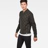 G-Star RAW® Biker Zip Through Knit Grau model side