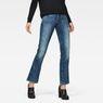 G-Star RAW® Midge Saddle Mid Waist Skinny Bootcut Jeans Mittelblau