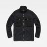 G-Star RAW® Type C Utility Tone-Mix Overshirt Black flat front
