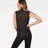 G-Star RAW® Deline Slim Funnel Sleeveless T-Shirt Black model back