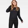 G-Star RAW® Micella Cropped Sweat Noir model front