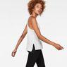 G-Star RAW® Dyv Pocket Straight Deep V-Neck Singlet White model side