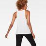 G-Star RAW® Dyv Pocket Straight Deep V-Neck Singlet White model back