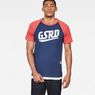 G-Star RAW® Buckston Raglan T-Shirt Dark blue model front