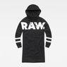 G-Star RAW® Scolla Oversized Hooded Sweat Dress Black flat front